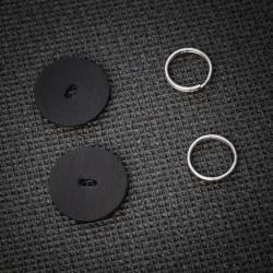 Soft leather protection discs + 16mm split rings